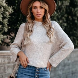 BALFOUR Cropped Knit Sweater